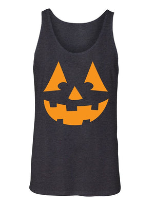 Manateez Men's Orange Jack O Lantern Tank Top