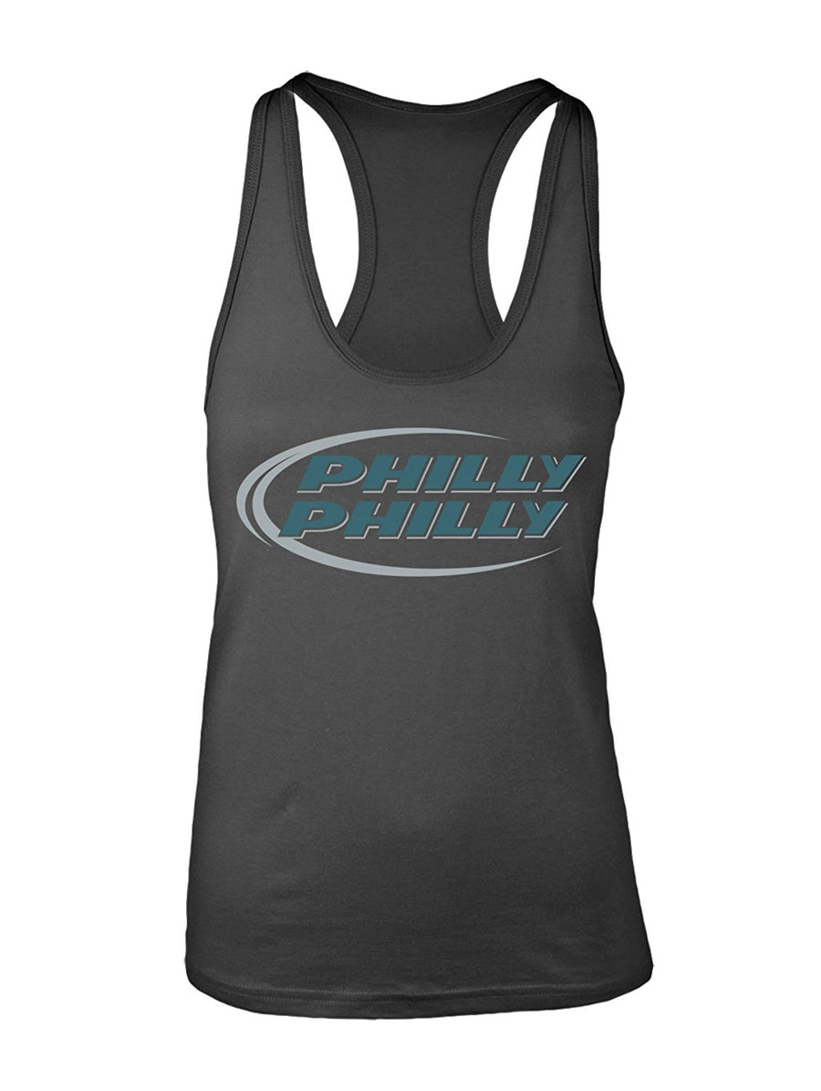 Manateez Women's Budlight Dilly Dilly Eagles Philly Philly Racer Back Tank Top Large Black