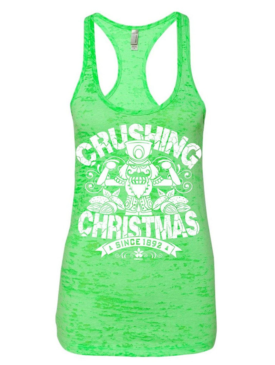 Manateez Women's The Nutcracker Crushing Christmas Crew Burnout Tank Top
