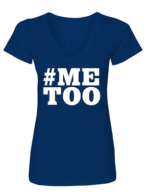 Manateez Women's #Metoo Sexual Assault Awareness V-Neck Tee Shirt