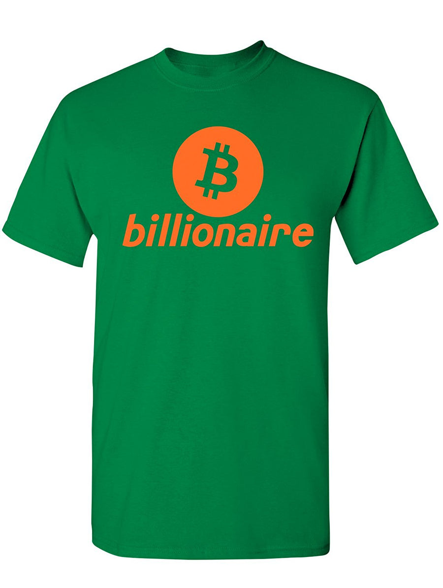 Manateez Men's Bitcoin Billionaire Tee Shirt