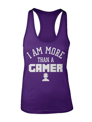 Manateez Women's I Am More Than A Gamer Racer Back Tank Top