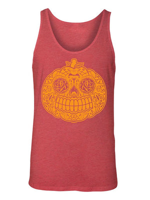 Manateez Men's Candy Pumpkin Jackolantern Tank Top