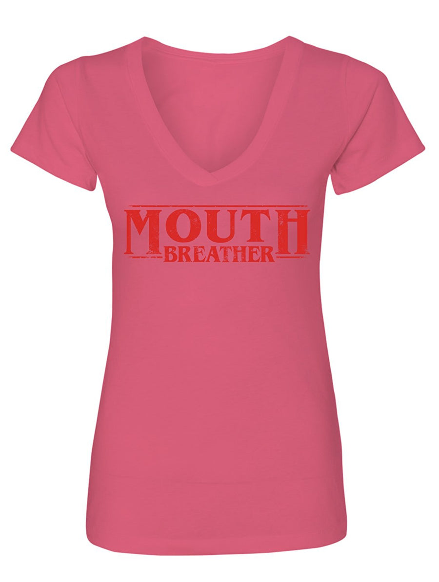 Manateez Women's Mouth breather V-Neck Tee Shirt