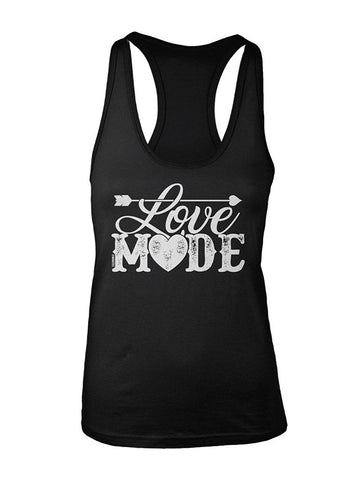 Manateez Women's Love Mode Lettering Valentine's Day Racer Back
