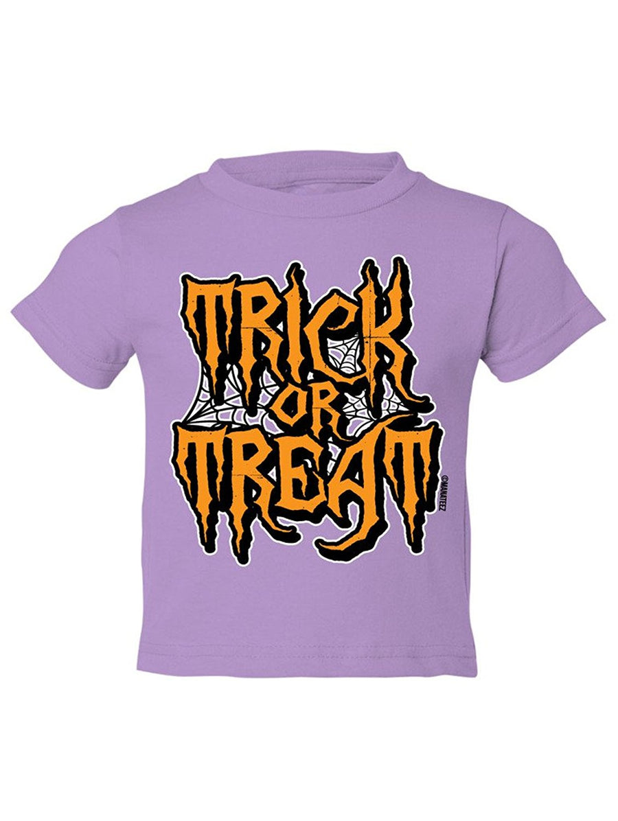 Manateez Toddler Trick or Treat Spider Webs Tee Shirt