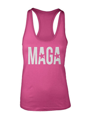 Manateez Women's MAGA Make America Great Again Racer Back Tank Top