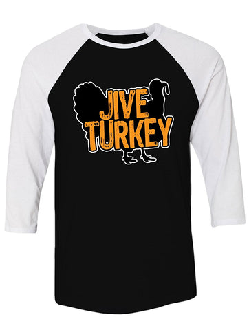 Manateez Thanksgiving Dinner Jive Turkey Raglan