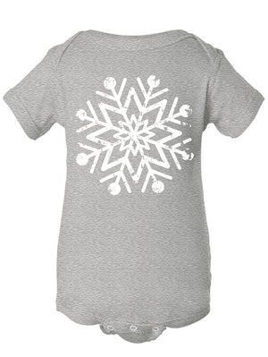 Manateez Baby Intricate Snowflake Design Body Suit