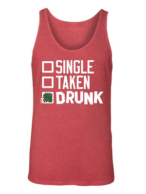 Manateez Men's St. Patrick's Day Drinking Checklist Tank Top