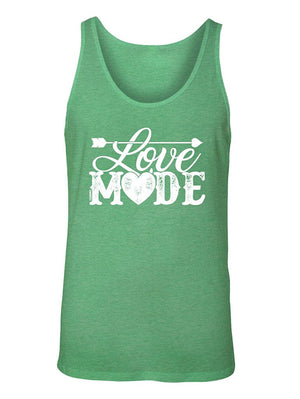 Manateez Men's Love Mode Lettering Valentine's Day Tank Top