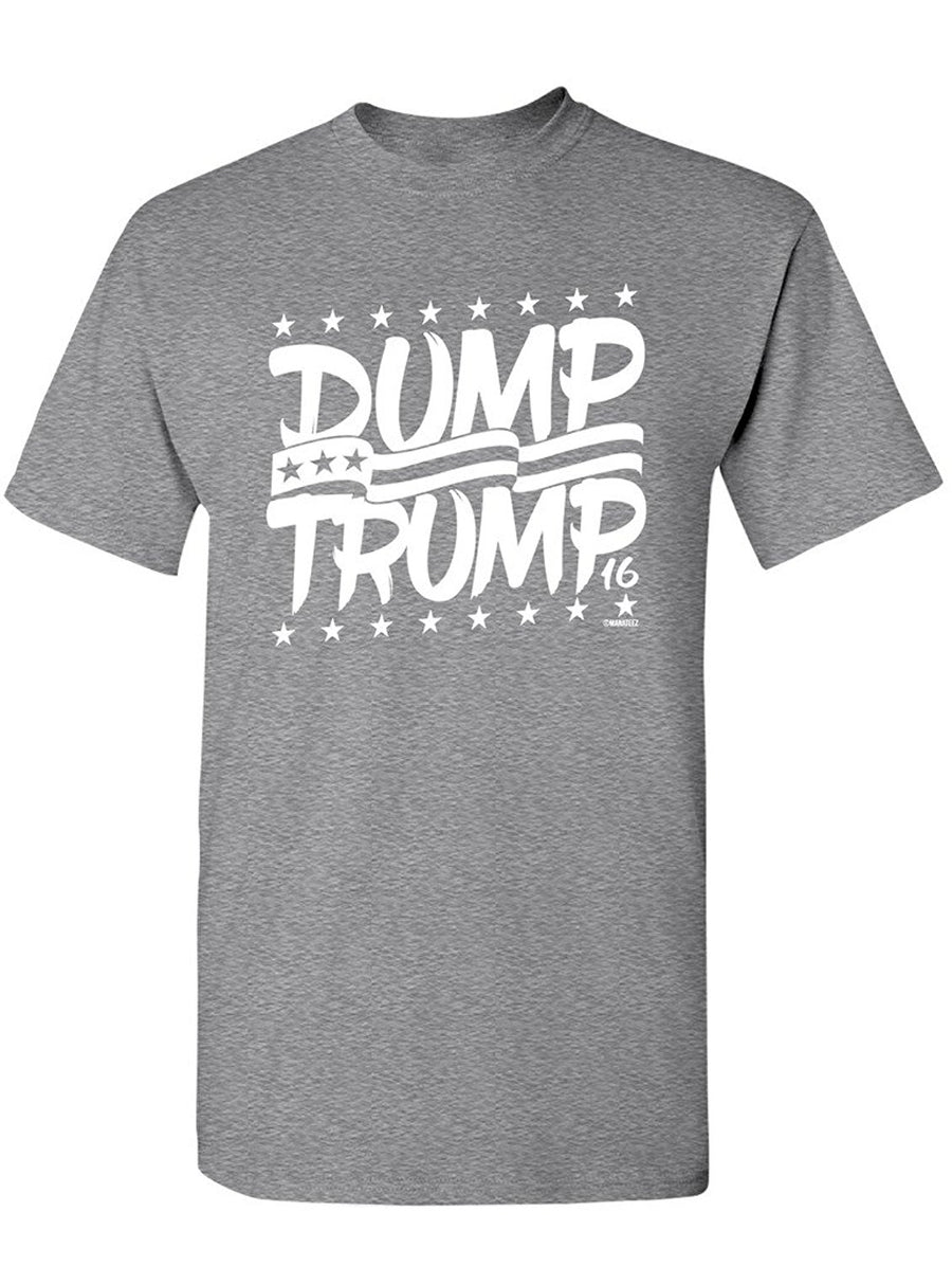 Manateez Men's Dump Trump 2016 Election Tee Shirt