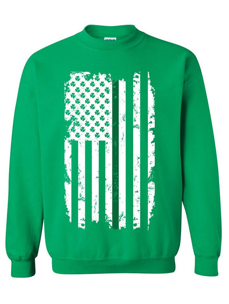 Manateez St. Patrick's Day Irish American Flag Crew Neck Shirt