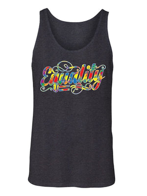 Manateez Men's Rainbow Equality Gay Rights Tank Top