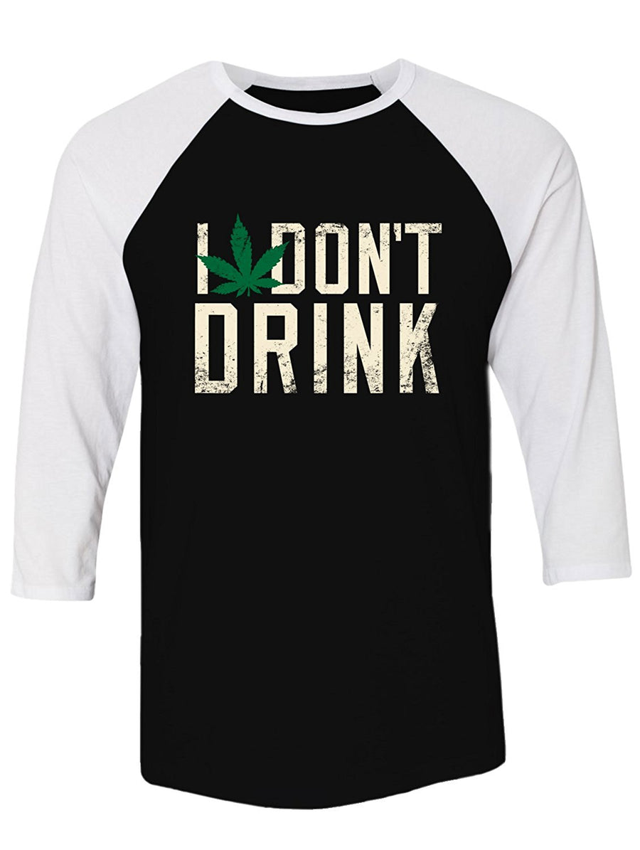 Manateez Women's I Don't Drink 420 Smoking Racer Back Tank Top