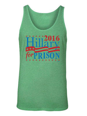 Manateez Men's Election 2016 Hillary for Prison Tank Top