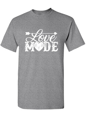 Manateez Men's Love Mode Lettering Valentine's Day Tee Shirt