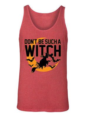 Manateez Men's Don't Be Such A Witch Halloween Tank Top
