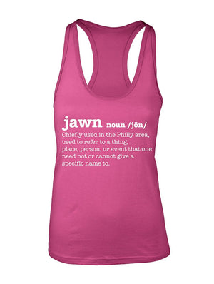 Manateez Women's Philly Jawn Definition Racer Back