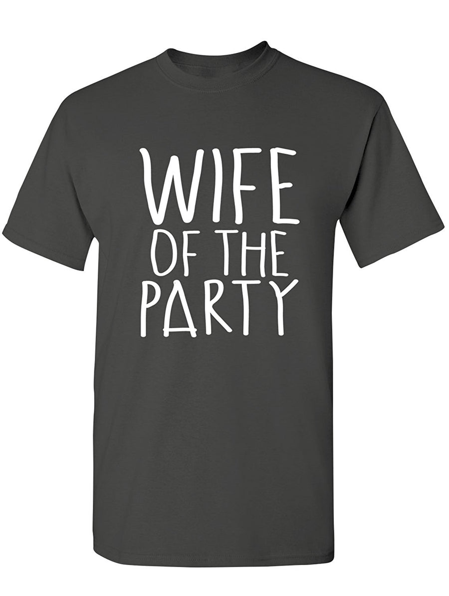 Manateez Men's Wife of The Party Tee Shirt