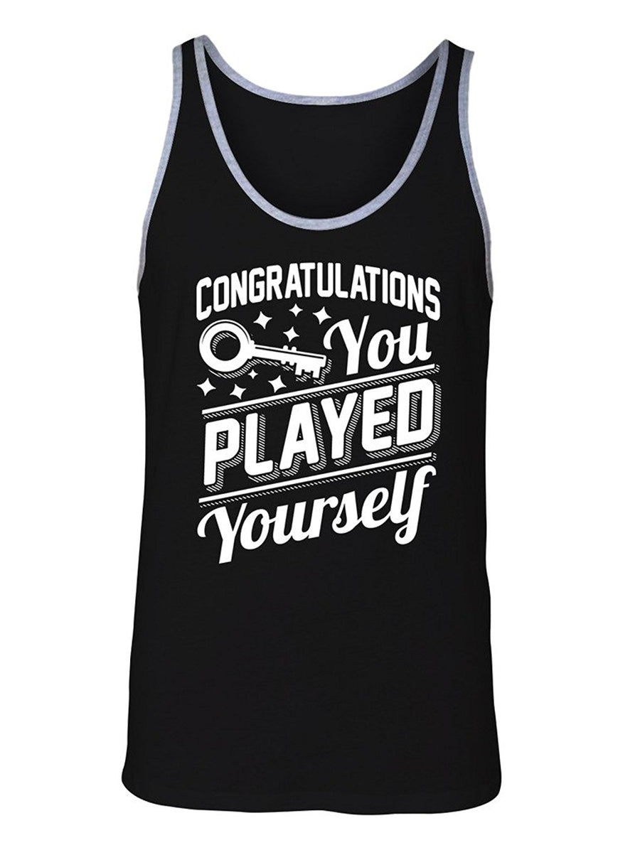 Manateez Men's DJ Khalid Congratulations You Played Yourself Tank Top