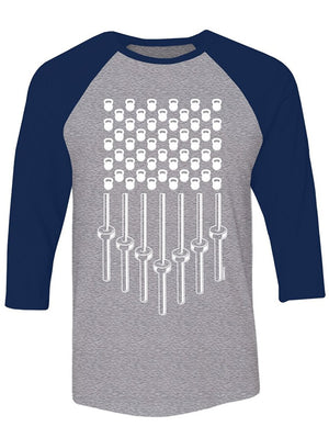 Manateez Bells and Bars Stars and Stripes Raglan Tee Shirt