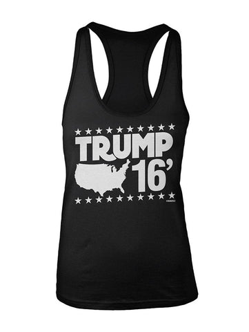 Manateez Women's Trump 16 USA Racer Back Tank Top