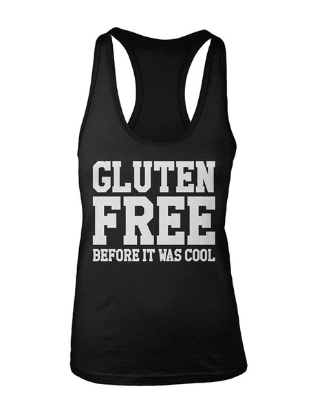 Manateez Women's Gluten Free Before It Was Cool Racer Back Tank Top