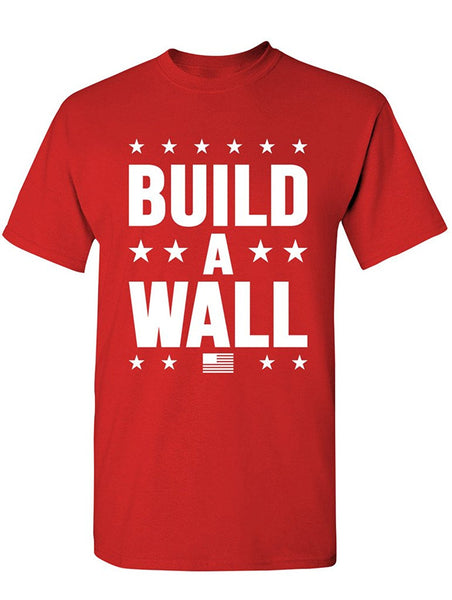 Manateez Men's Trump Build a Wall Tee Shirt