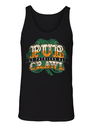 Manateez Men's ST. Patrick's Day Pub Crawl Tank Top