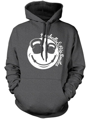 Manateez Barbells & Big Smiles Smiley Face V-Neck Tee Shirt Hoodie