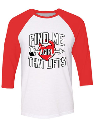 Manateez Find Me A Girl That Lifts Valentine's Day Raglan
