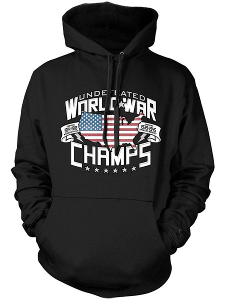 Manateez Two-Time Undefeated World War Champions USA Hoodie