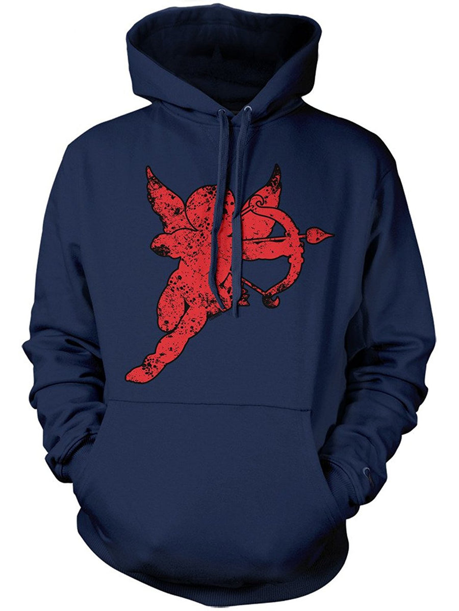 Manateez Cupid Red Silhouette Valentine's Day Hoodie