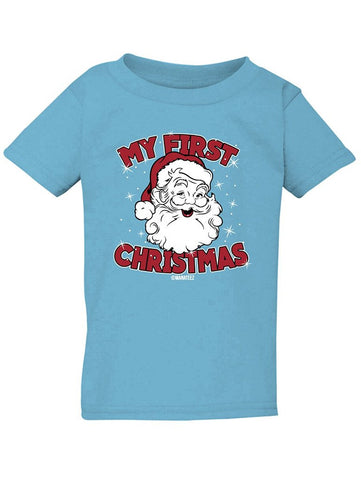 Manateez Infant My First Christmas Santa Tee Shirt