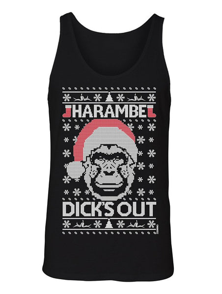 Manateez Men's Dick's Out for Harambe Christmas Sweater Tank Top