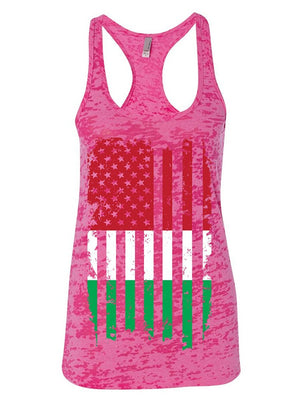 Manateez Women's Italian American Flag Design Burnout