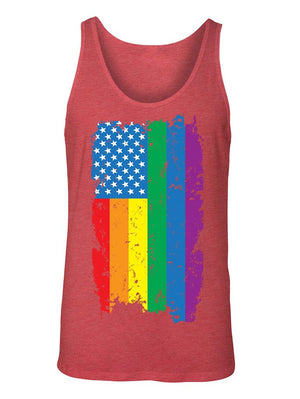 Manateez Men's American Gay Pride Rainbow Flag Tank Top