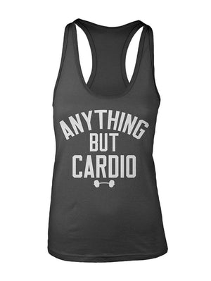 Manateez Women's Anything But Cardio Racer Back Tank Top