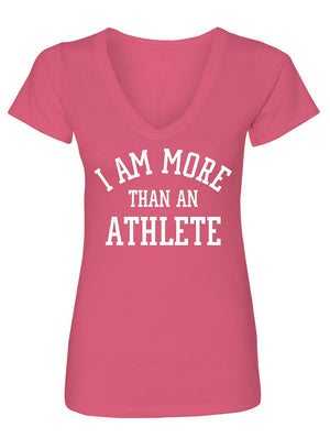 Manateez Women's I Am More Than Just an Athlete V-Neck Tee Shirt