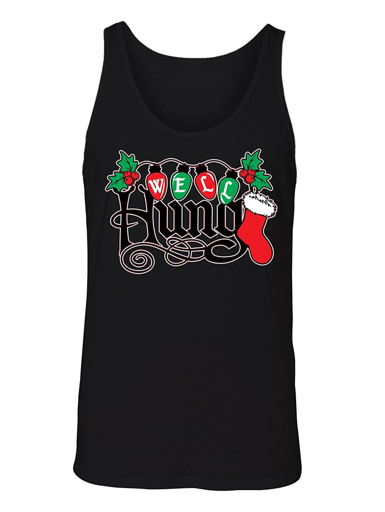 Mens Ugly Christmas Sweater.Manateez Men S Ugly Christmas Sweater Well Hung Mistletoe Tank Top