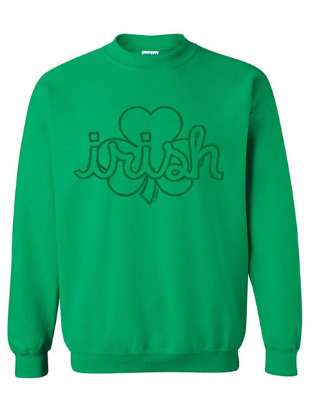 Manateez St. Patrick's Day Irish Shamrock Crew Neck Shirt