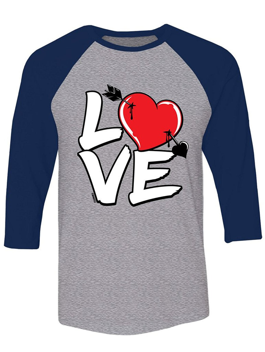 Manateez Love Cupid's Arrow to the Heart Valentine's Day Raglan