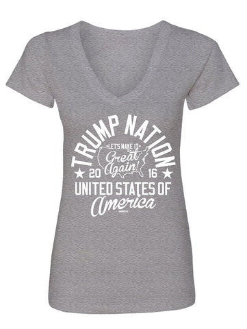 Manateez Women's Trump Nation V-Neck