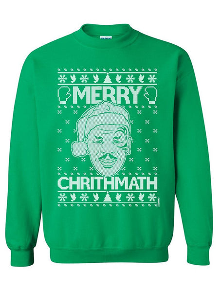 Manateez Mike Tyson's Merry Christmas Crew Neck Sweatshirts