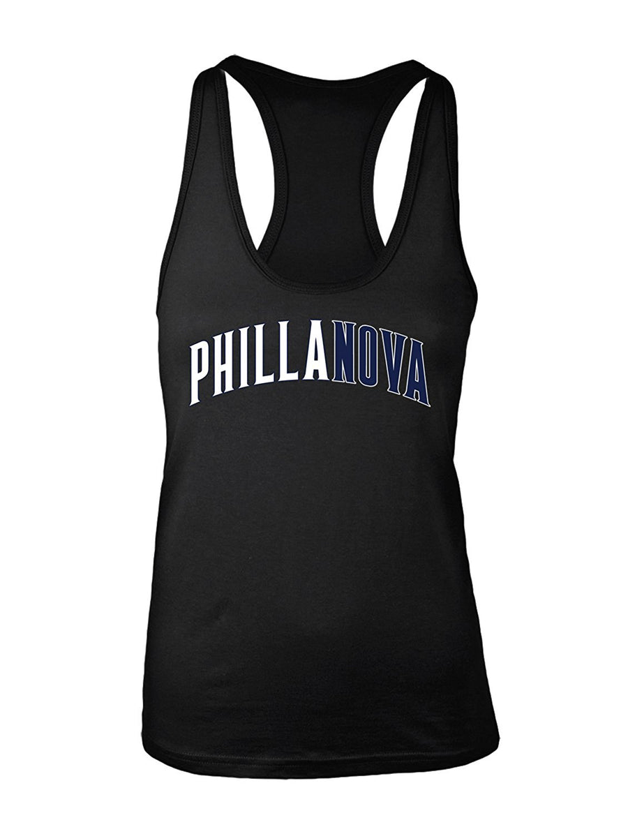 Manateez Women's Villanova National Champs Phillanova Racer Back Tank Top