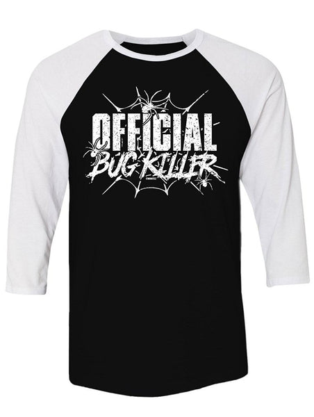 Manateez Official Bug Killer Raglan Tee Shirt