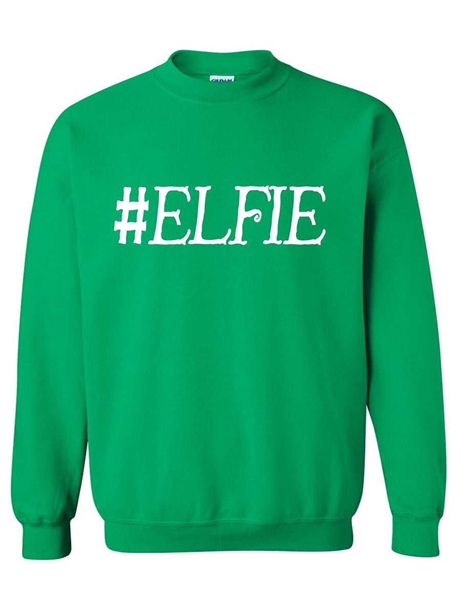 Manateez Men's Ugly Christmas Sweater Let's Get Elfed Up Crew Neck Sweater