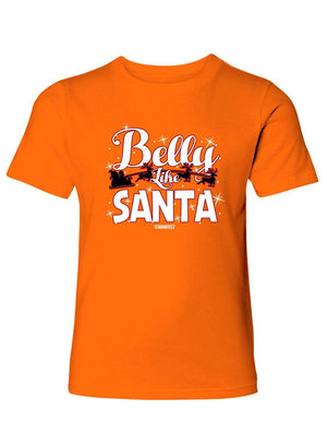 Manateez Boy's Belly Like Santa Sleigh Tee Shirt