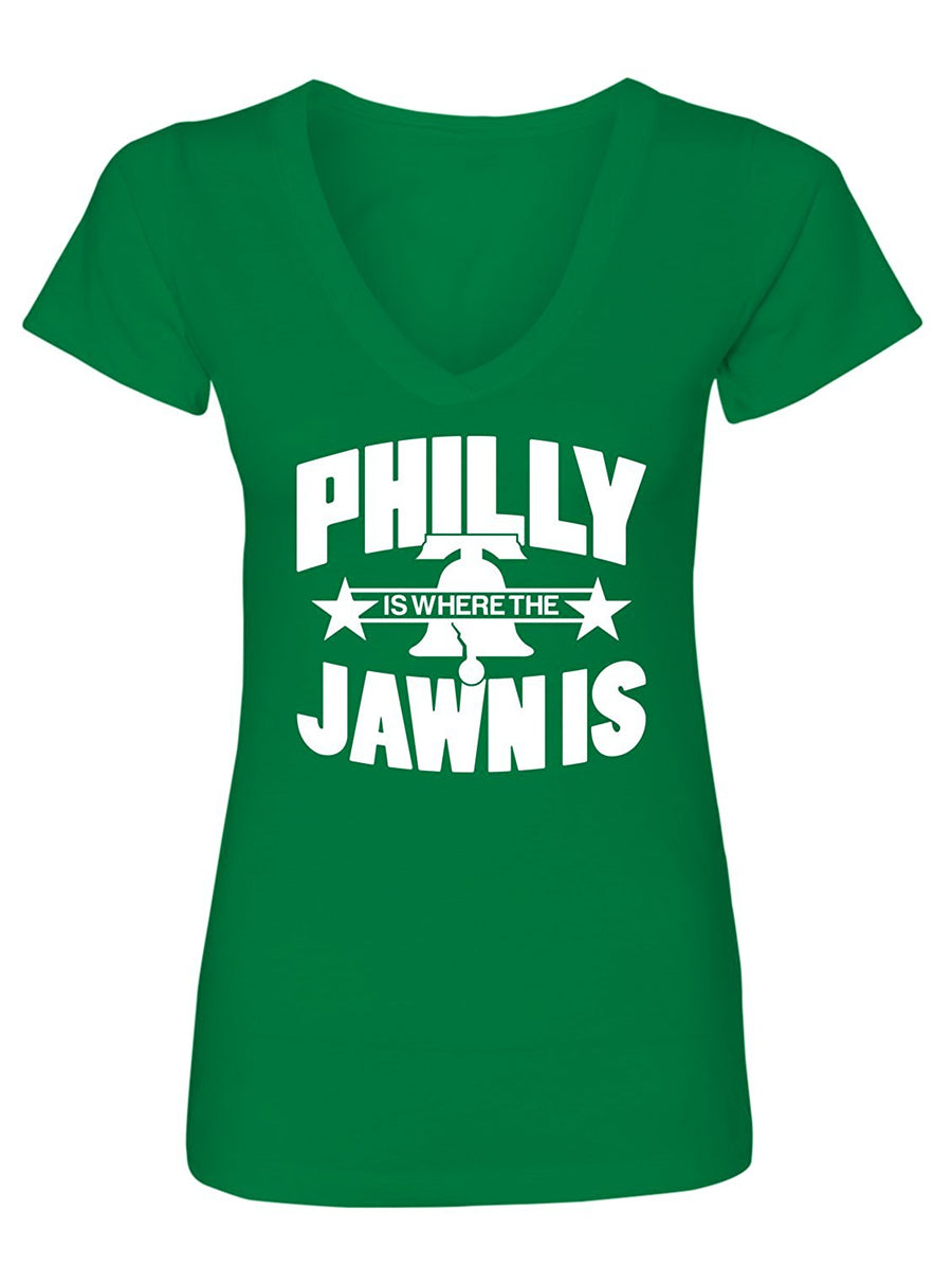 Manateez Women's Liberty Bell Philly Jawn Is V-Neck